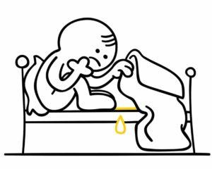 Ins Bett gemacht? Muss dir nicht peinlich sein. Das ist jedem schon einmal passiert. Mit unseren Hausmitteln stehen wir dir zur Seite. © GiZGRAPHICS