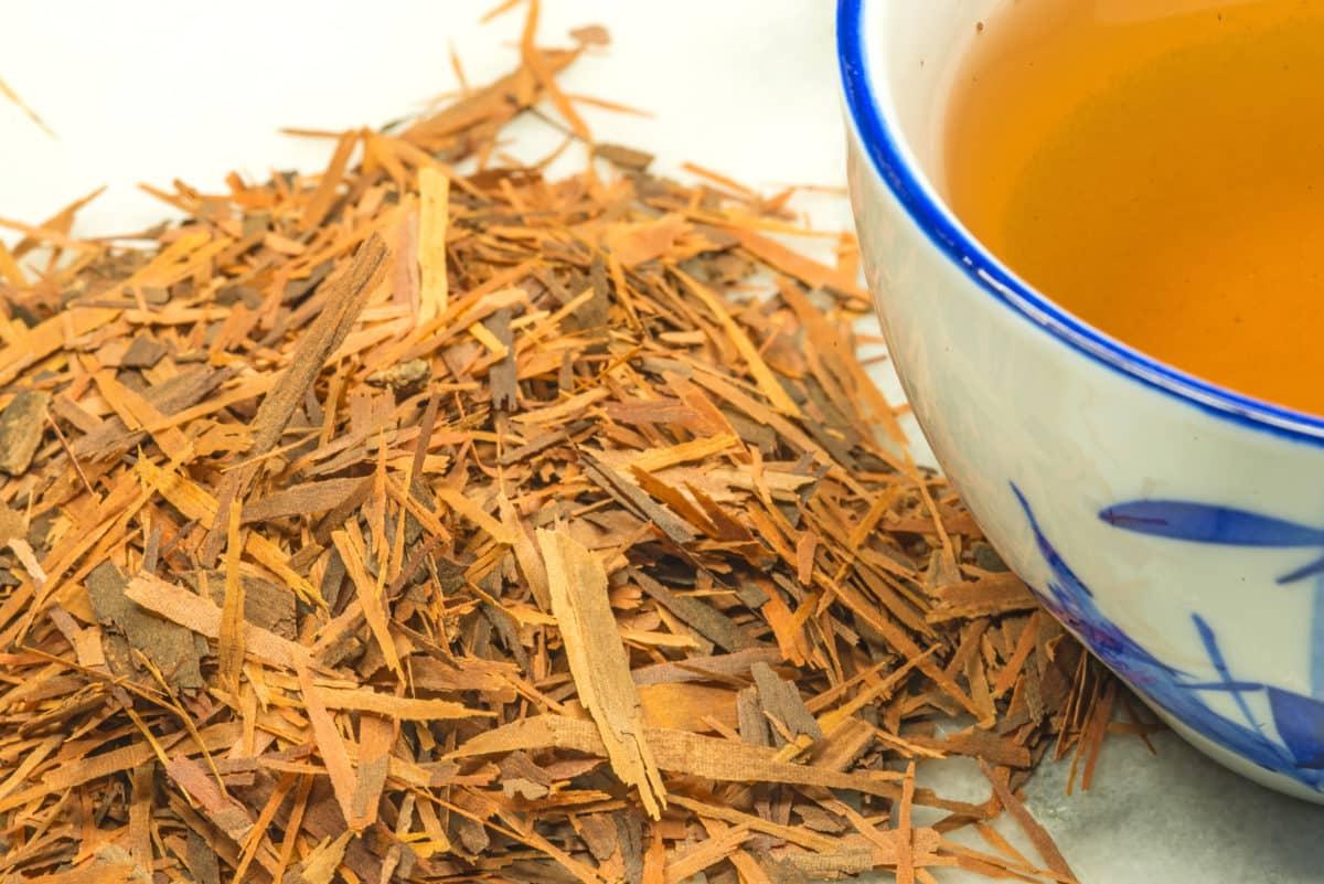 Rinde des Lapachobaums zur Teezubereitung